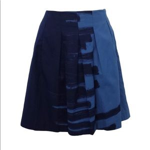 Vince Two-Toned Blue Skirt